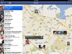 Facebook, Хроника, профили,  iPad-приложение