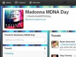 Мадонна, аккаунт,  Twitter