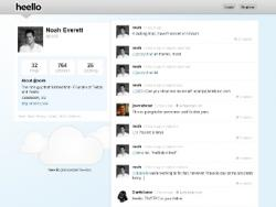 Ноа Эверетт, Twitpic, сервис микроблогов,  Heello