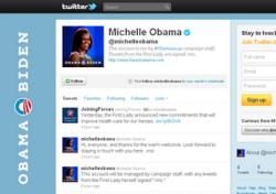 США,  Мишель Обама. аккаунт,  Twitter